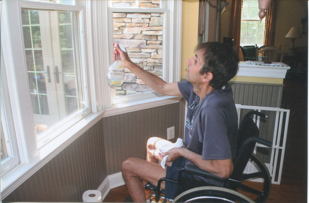 Gregg washing windows